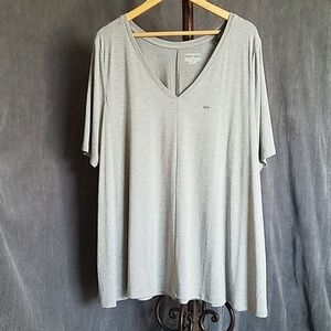 NWT Lane Bryant V Neck Shirt Gray Size 18/20